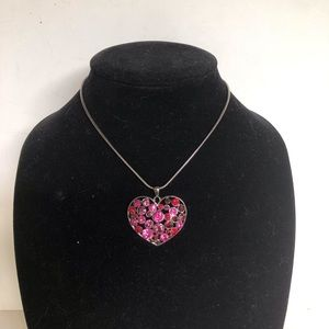 Cookie Lee heart necklace